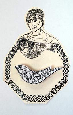 Sarah Anderson:Bird Pin :  pin anderson sarah bird