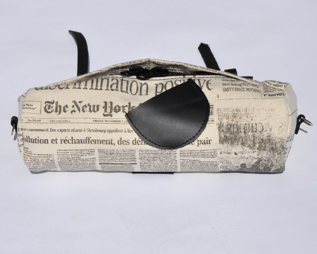 Alexandra Cassaniti: Newsprint Bike Bag