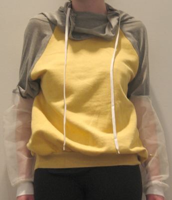 Bless: Wide Collar Sweatshirt :  bless drawstring clothing hoodies
